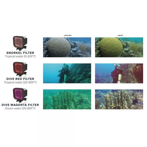 GoScope HERO Session Marine Filter Set + Housing