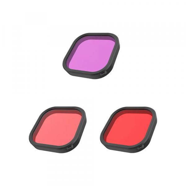 Telesin 3er Tauchfilterset für HERO9 & 10 Black