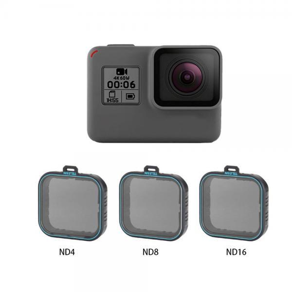 Telesin ND4, ND8, N16 Filterset für HERO5-7 Black