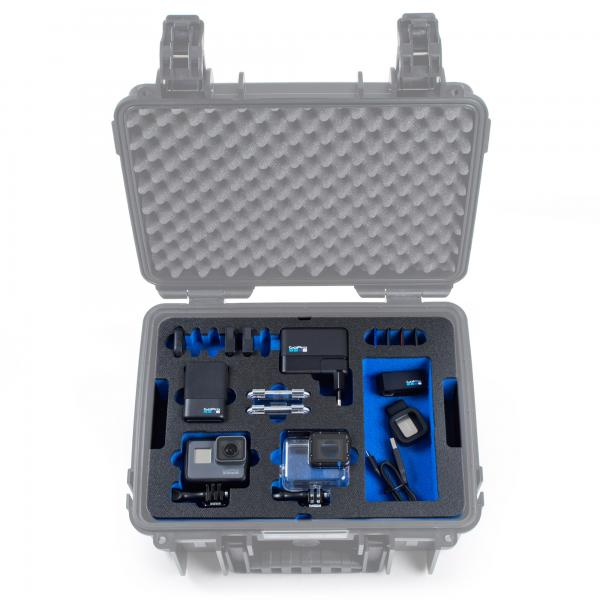 B&W Case 3000 Custom Einsatz für HERO5-7 Black
