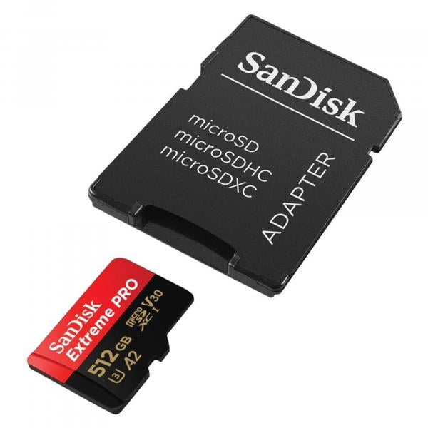 SanDisk 512GB microSDXC Extreme Pro C10 U3 V30 A 170MB/s