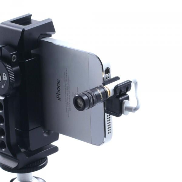 Edutige EMM-001 Mikrofonhalter für Lightning/USB-C zu 3,5mm Klinkenadapter