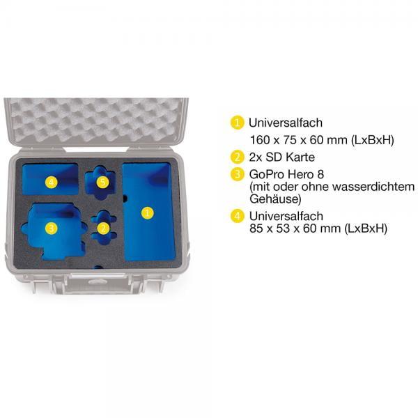 B&W Case 1000 Custom Einsatz für HERO8 Black