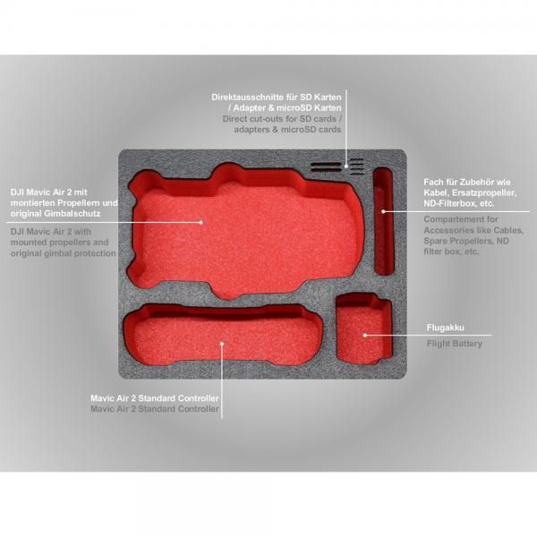TOMcase Kompakt Edition XT235 für Mavic Air 2 & Air 2S