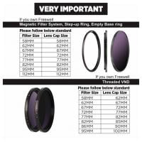Freewell Gear Magnetic Lens Cap 112mm Sondergröße