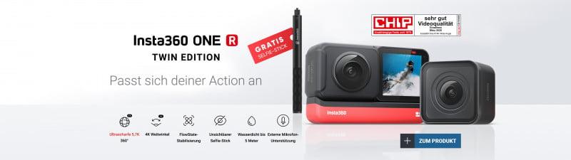 Insta360 ONE R inkl. Selfie-Stick