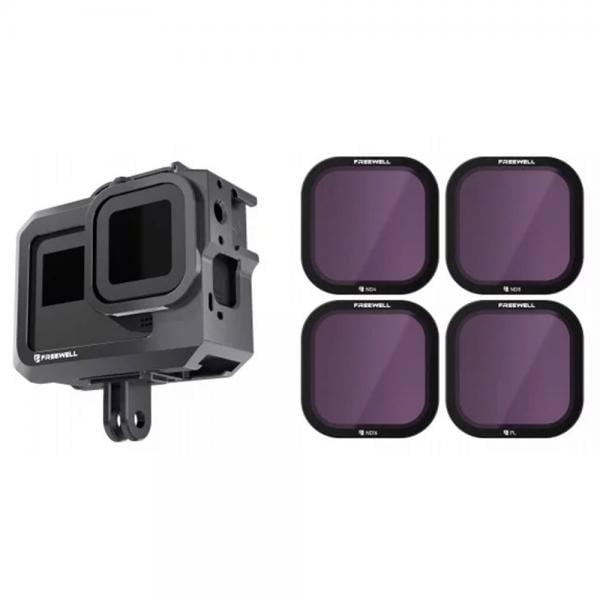 Freewell Gear Metal Protective Cage + Filter für HERO8 Black