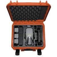 Koffer orange Inlay schwarz