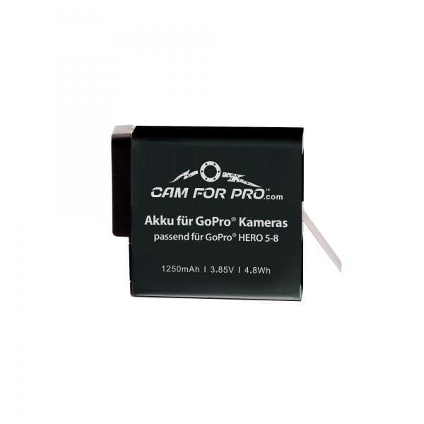 camforpro Ersatzakku für GoPro HERO5-8 Black